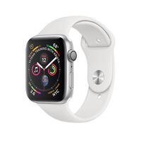 Умные часы Apple Watch Series 4 GPS 44mm Aluminum Case with Sport Band (Цвет: Silver/White)