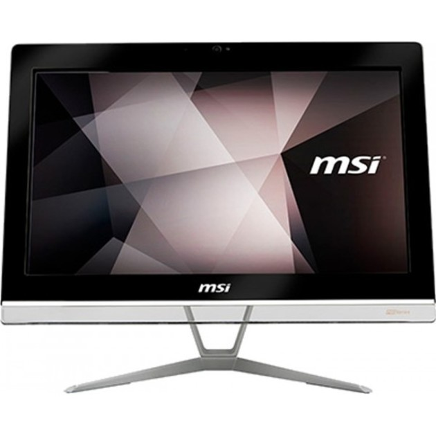 Моноблок MSI Pro 20EXTS 8GL-031XRU Touch   19.5(1600x900)/Touch/Intel Celeron N4000(1.1Ghz)/4096Mb/128SSDGb/DVDrw/Int:Intel HD/Cam/BT/WiFi/war 1y/6.96kg/Black/DOS