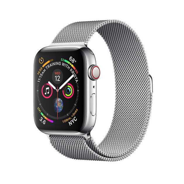Умные часы Apple Watch Series 4 GPS + Cellular 44mm Stainless Steel Case with Milanese Loop (Цвет: Stainless Steel)