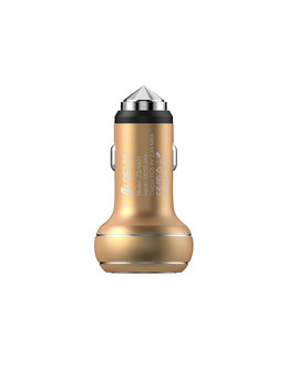 АЗУ Devia Thor Dual USB Port Car Charger 2.4A (Цвет: Champagne gold)