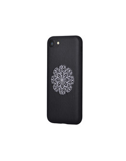 Чехол-накладка Devia Flower Embroidery Case iPhone 7/8 (Цвет: Black)