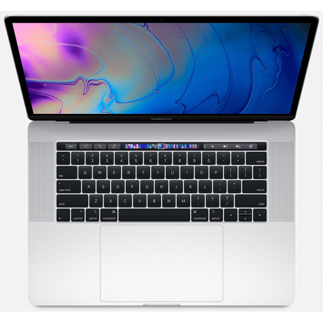 Ноутбук Apple MacBook Pro 15-inch with Touch Bar: 2.3GHz 8-core 9th-generation Intel Core i9 (TB up to 4.8GHz)/16Gb/512GB SSD/Radeon Pro 560X with 4GB of GDDR5 memory - Silver