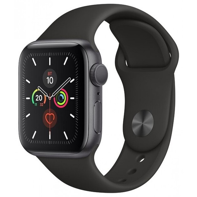 Умные часы Apple Watch Series 5 GPS 44mm Aluminum Case with Sport Band (Цвет: Space Gray/Black)