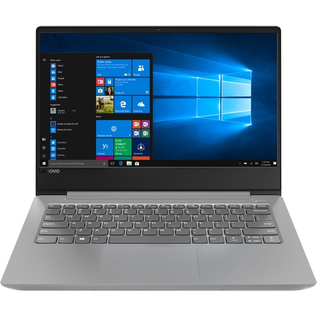 Ноутбук Lenovo IdeaPad 330S-14IKB Core i5 8250U/8Gb/SSD128Gb/Intel UHD Graphics 620/14/IPS/FHD (1920x1080)/Free DOS/grey/WiFi/BT/Cam