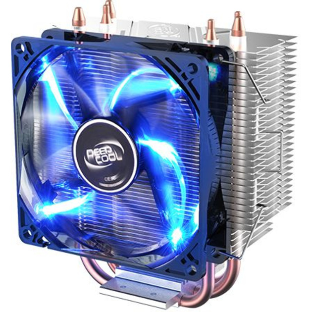 Устройство охлаждения(кулер) Deepcool GAMMAXX 300 FURY Soc-FM2+/AM2+/AM3+/AM4/1150/1151/1155/ 4-pin 18-21dB Al+Cu 130W 435gr LED Ret