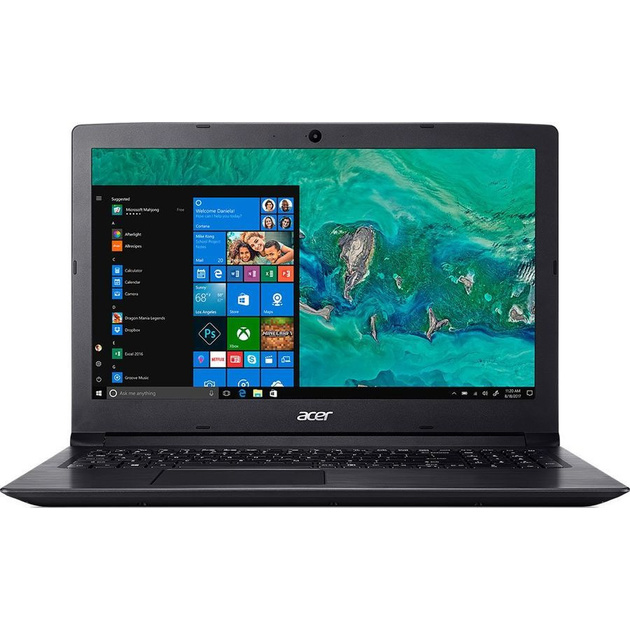 Ноутбук Acer Aspire A315-51-55ZU Core i5 7200U/8Gb/SSD256Gb/Intel HD Graphics 620/15.6/HD (1366x768)/Windows 10 Home/black/WiFi/BT/Cam/3246mAh