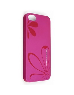 Чехол-накладка iPearl Ice Painted Case iPhone 5/5s/SE flower/pink (Цвет: Pink)