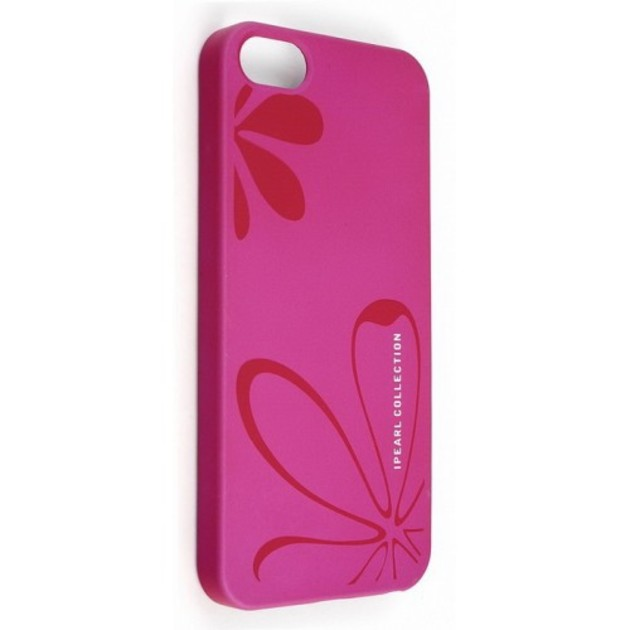 Чехол-накладка iPearl Ice Painted Case flower/pink для смартфона iPhone 5/5s/SE (Цвет: Pink)