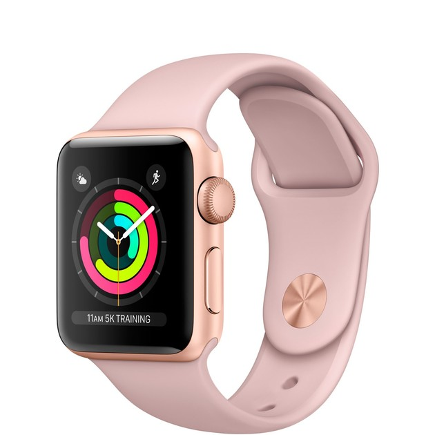 Умные часы Apple Watch Series 3 38mm Aluminum Case with Sport Band (Цвет: Gold/Pink Sand)