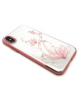 Накладка Devia Crystal Lotus case iPhone X/XS (Цвет: Rose gold)