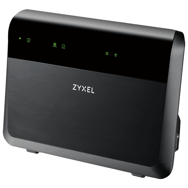 Wi-Fi роутер ZYXEL VMG8823-B50B Dual Band Wireless AC/N VDSL2 VoIP Combo WAN Gigabit IAD VDSL2 profile 35b over POTS IAD, GbE WAN, 4GbE LAN, 2 FXS ports, 1 USB 3.0, WiFi 11n 2.4GHz 300Mb , 5GHz 11ac 1.7Gb, EU+UK STD version