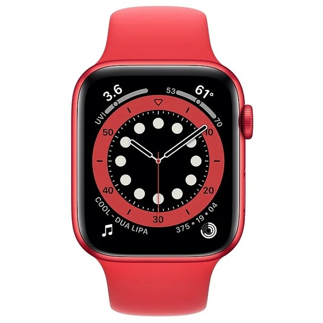 Умные часы Apple Watch Series 6 GPS 44mm Aluminum Case with Sport Band M00M3RU/A (Цвет: Red)