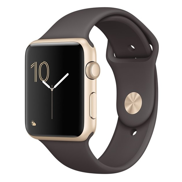 Умные часы Apple Watch Series 1 42mm with Sport Band (Цвет: Gold/Cocoa)