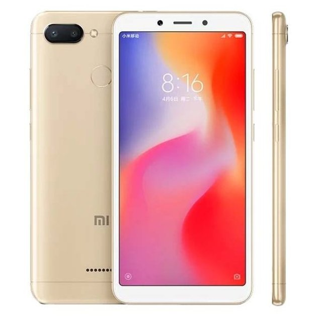Смартфон Xiaomi Redmi 6 3/32Gb (Цвет: Gold)