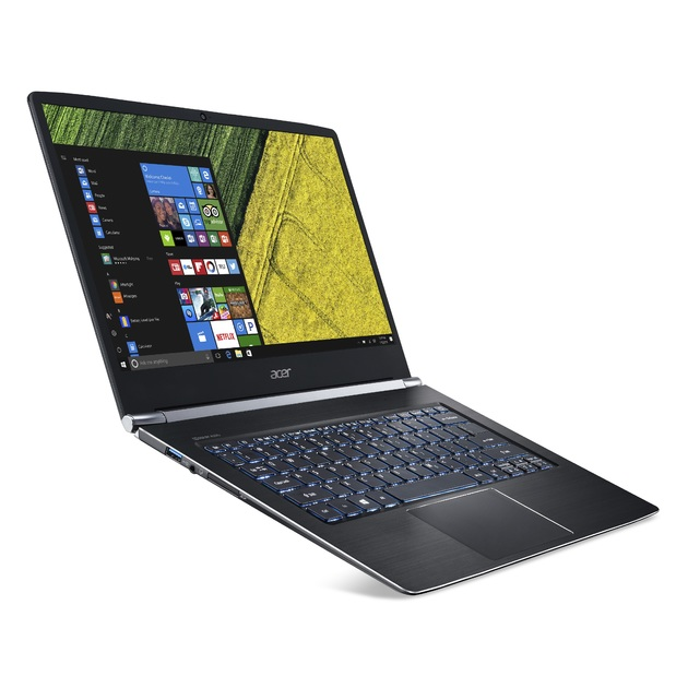 Ультрабук Acer Swift 7 SF714-52T-78V2 Core i7 8500Y/16Gb/SSD512Gb/Intel UHD Graphics 615/14/IPS/Touch/FHD (1920x1080)/Windows 10 Professional/black/WiFi/BT/Cam/4580mAh