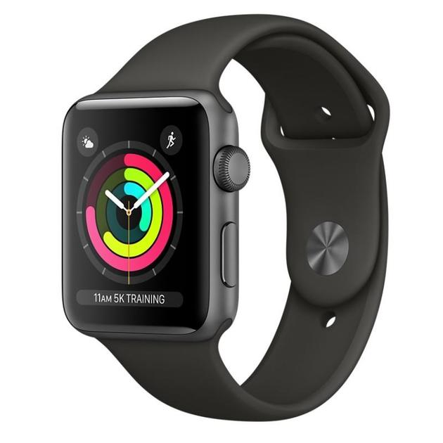 Умные часы Apple Watch Series 3 42mm Aluminum Case with Sport Band (Цвет: Space Gray/Gray)