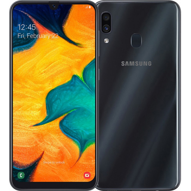 Смартфон Samsung Galaxy A30 SM-A305FN/DS 32Gb (Цвет: Black)