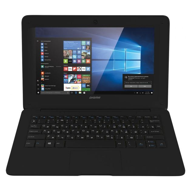 Ноутбук Digma EVE 100 Atom X5 Z8350/2Gb/SSD32Gb/Intel HD Graphics 400/10.1