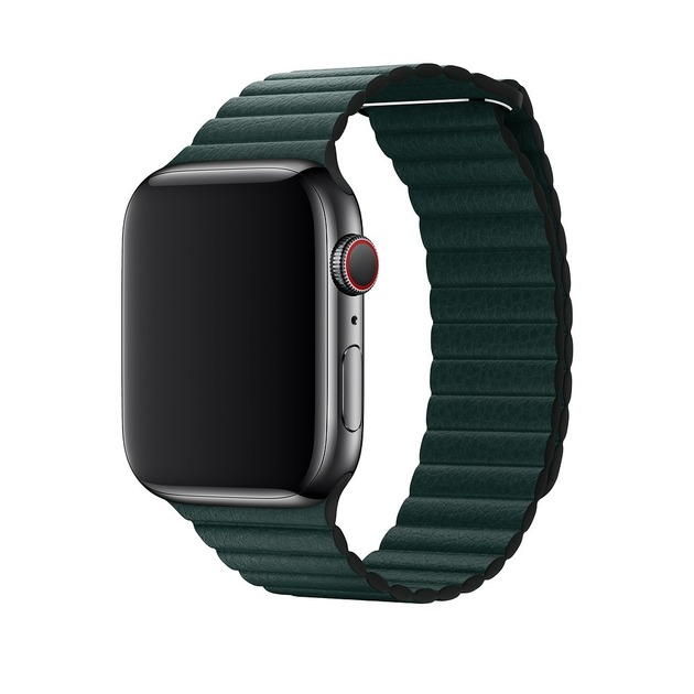 Ремешок кожаный Dismac Elegant Series Leather Loop для Apple Watch 42-44mm (Цвет: Forest Green)