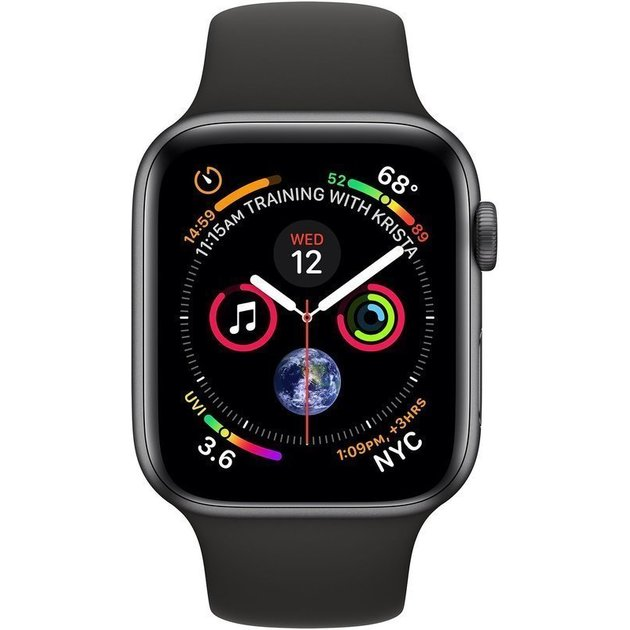 Умные часы Apple Watch Series 4 GPS 40mm Aluminum Case with Sport Band (Цвет: Space Gray/Black)