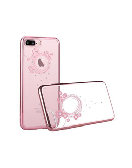Чехол-накладка Devia Crystal Garland iPhone 7 Plus/8 Plus (Цвет: Rose Gold)