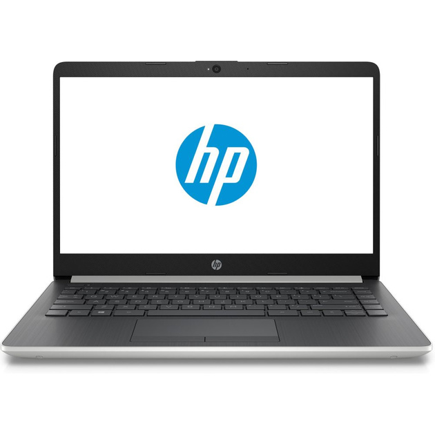 Ноутбук HP 14-cf0085ur Pentium 4417U/4Gb/SSD128Gb/Intel HD Graphics 610/14/FHD (1920x1080)/Free DOS/silver/WiFi/BT/Cam