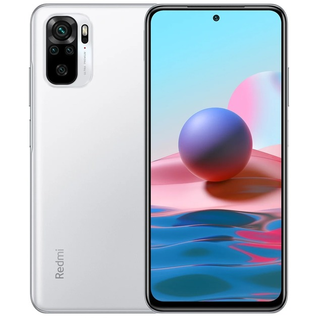 Смартфон Xiaomi Redmi Note 10 4/64Gb RU (Цвет: Pebble White)