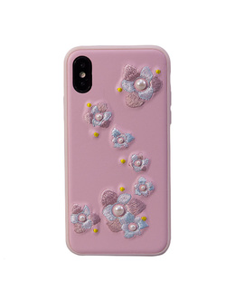 Накладка Devia Flower Embroidery Case iPhone X/XS (Цвет: Lanya)