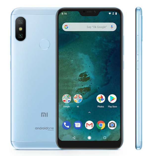 Смартфон Xiaomi Mi A2 Lite 3/32Gb Global (Цвет: Blue)