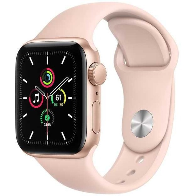 Умные часы Apple Watch SE GPS 44mm Aluminum Case with Sport Band (Цвет: Gold/Pink Sand)
