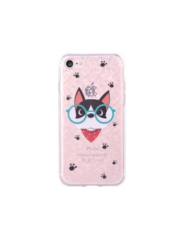 Чехол-накладка Devia Nifty Case Dr.Cat для смартфона iPhone 7 Plus/8 Plus (Цвет: Clear)