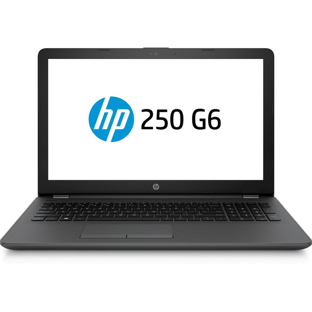 Ноутбук HP 250 G6 Core i3 5005U/4Gb/500Gb/Intel HD Graphics 5500/15.6/SVA/HD (1366x768)/Free DOS 2.0/dk.silver/WiFi/BT/Cam