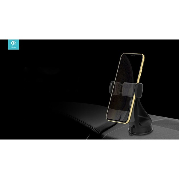 Автодержатель Devia Universal Sucker Phone Holder (Цвет: Black)