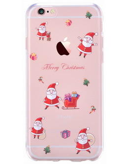Накладка Devia Christmas Series soft case iPhone 6/6s Santa Claus (Цвет: Clear)