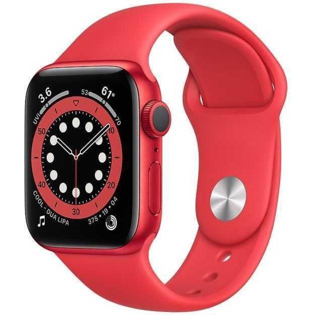 Умные часы Apple Watch Series 6 GPS 40mm Aluminum Case with Sport Band M00A3RU/A (Цвет: (PRODUCT)RED)