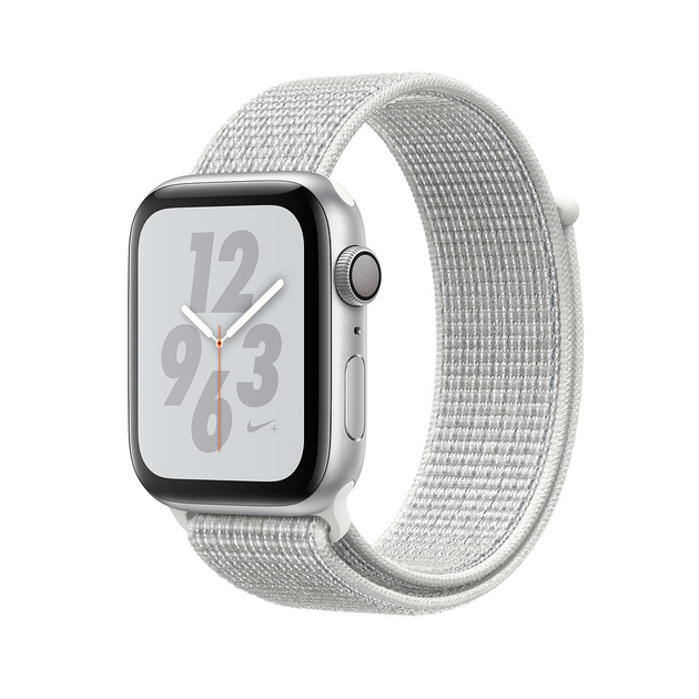 Умные часы Apple Watch Series 4 GPS 40mm Aluminum Case with Nike Sport Loop (Цвет: Silver/Summit White)