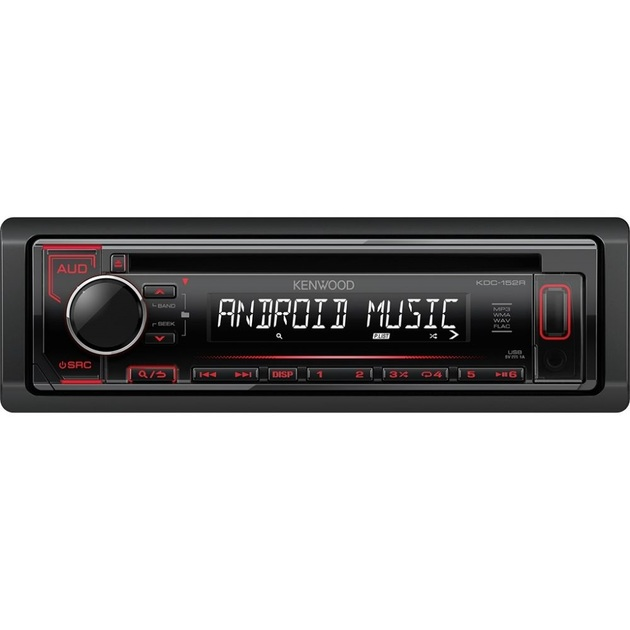 Автомагнитола CD Kenwood KDC-152R 1DIN 4x50Вт