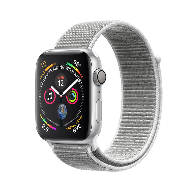 Умные часы Apple Watch Series 4 GPS 40mm Aluminum Case with Sport Loop (Цвет: Silver/Seashell)