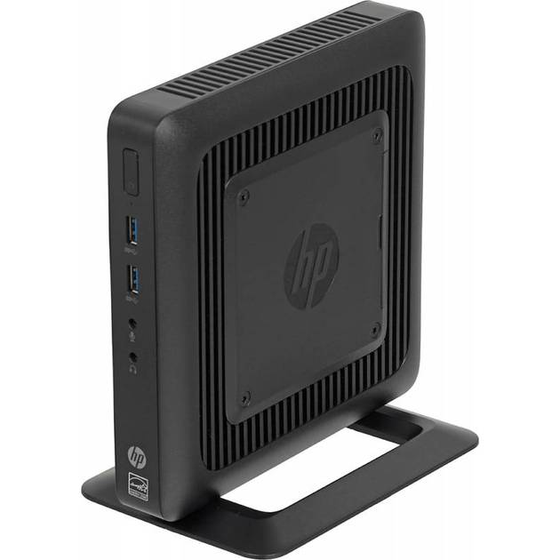 Тонкий Клиент HP Flexible t520 slim GX-212JC (1.2)/4Gb/SSD16Gb/HD/Windows Embedded Standard 7E 32/GbitEth/65W/клавиатура/мышь/черный