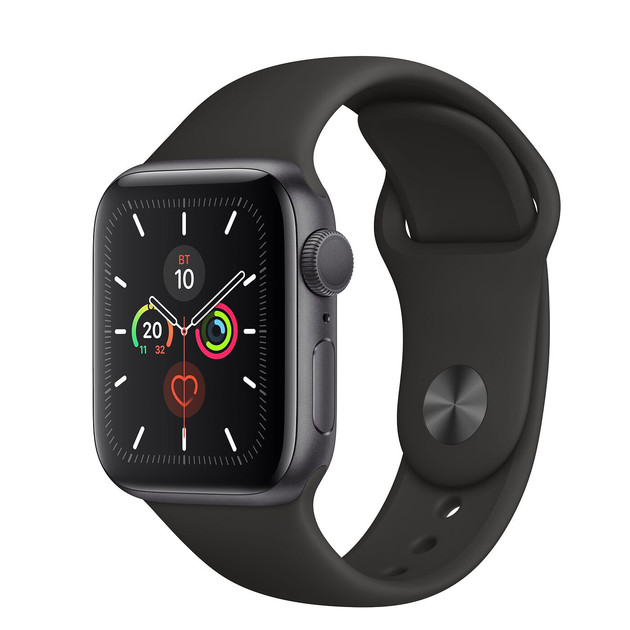 Умные часы Apple Watch Series 5 GPS 40mm Aluminum Case with Sport Band (Цвет: Space Gray/Black)