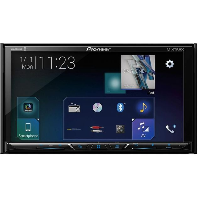 Автомагнитола CD DVD Pioneer AVH-Z5100BT 2DIN 4x50Вт ПО:Waze