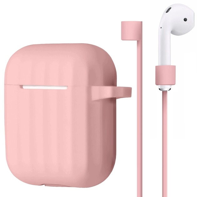 Чехол Silicon Protect Case для Apple AirPods (Цвет: Pink)