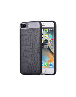 Чехол-накладка Comma Croco 2 Leather Case для смартфона iPhone 7 Plus/8 Plus (Цвет: Black)