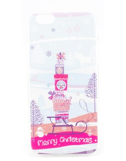 Накладка Devia Christmas Series soft case iPhone 6/6s gift (Цвет: Clear)