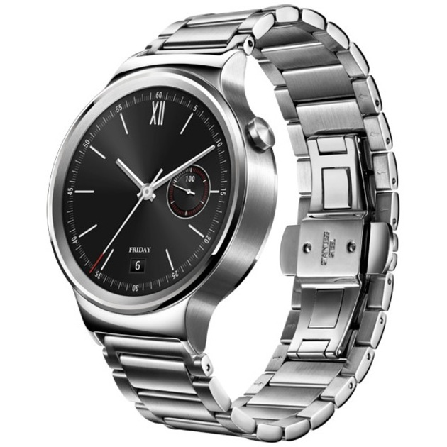Умные часы Huawei Watch Stainless Steel Link Bracelet (Цвет: Silver)