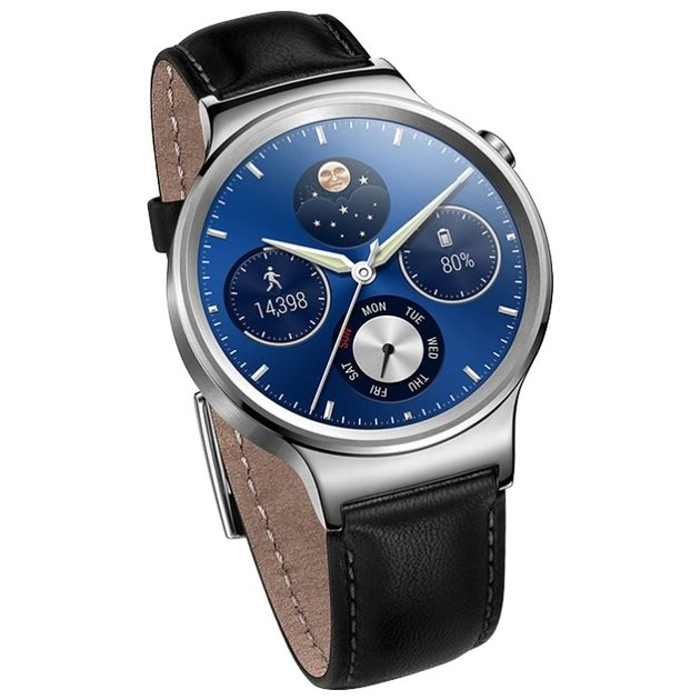 Умные часы Huawei Watch Genuine Leather Strap (Цвет: Silver/Black)