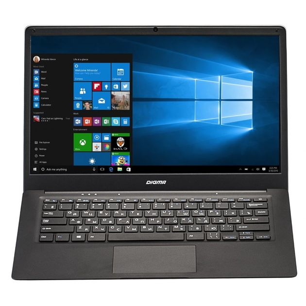 Ноутбук Digma EVE 1401 Atom X5 Z8350/2Gb/SSD32Gb/Intel HD Graphics 400/14.1