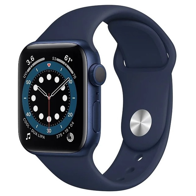 Умные часы Apple Watch Series 6 GPS 40mm Aluminum Case with Sport Band (Цвет: Blue/Deep Navy)
