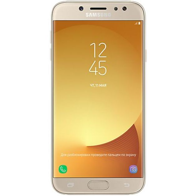 Смартфон Samsung Galaxy J7 (2017) SM-J730FM/DS 16Gb (Цвет: Gold)