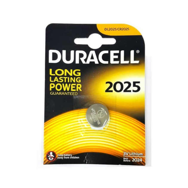 Батарея Duracell CR2025/DL2025 (1шт.)
